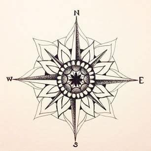 compass tattoo einfach resultado de imagen de mandala compass tattoo