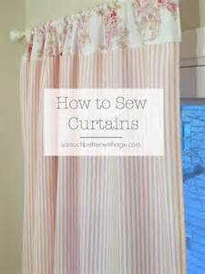 Blackout Lining Curtains How To Sew Pink Ticking Curtains So Much Better With Age