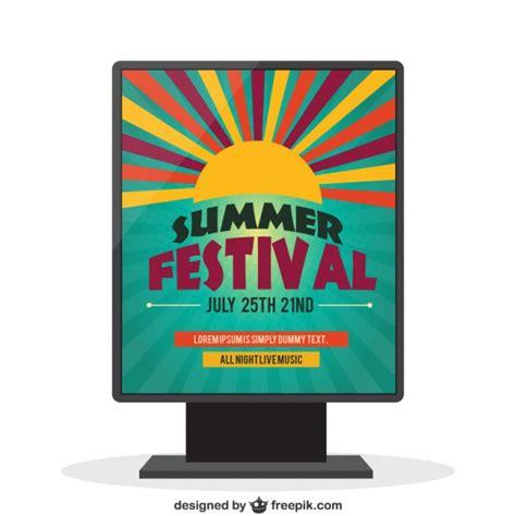 festival poster template summer festival poster vector free