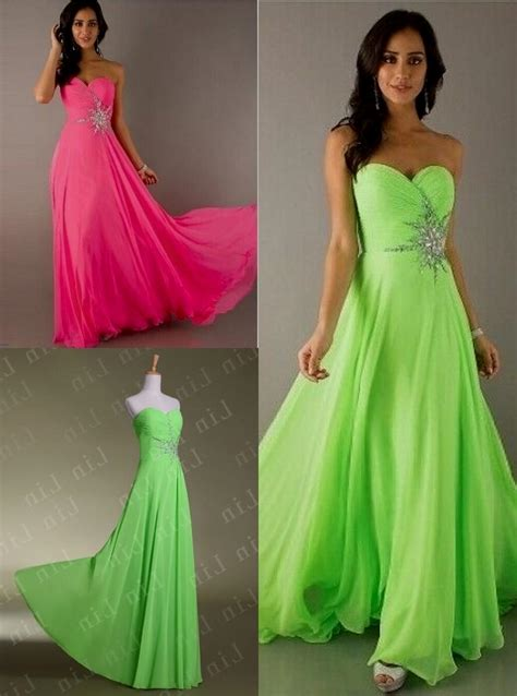 Dress Lime pink and green bridesmaid dress lime green and pink