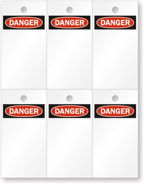 Printable Danger Tags | loto blank danger on top laser printable tags sku tg 0192