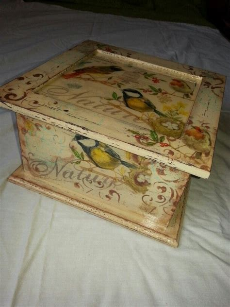 Decoupage Boxes Ideas - caja de t 233 decoupage stencil sellos resina caixas