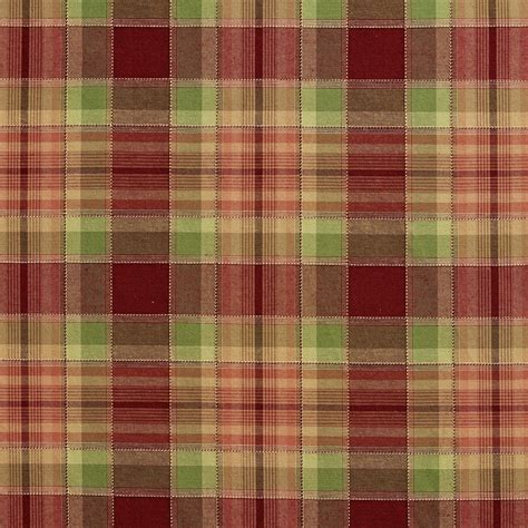fabrics wallcoverings design source finder florida burgundy and green country plaid upholstery fabric by the yard