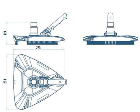 Produit Nettoyage Liner Piscine 4340 by Aspirateur Triangulaire Avec Brosse Pour Piscine Liner