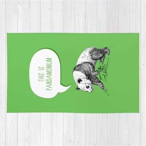 panda pun rug by zeke tucker society6