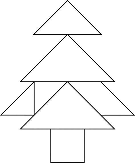 printable christmas tree tangram tree clipart etc