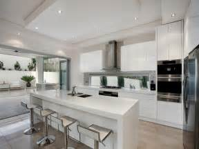 modern island kitchen design using marble kitchen photo