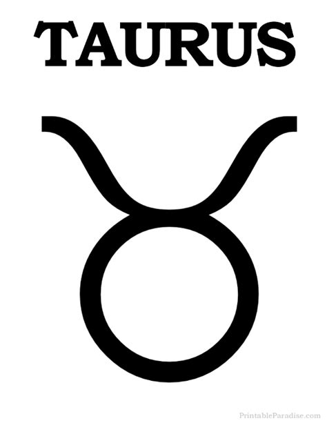 taurus zodiac sign printable taurus zodiac sign print taurus symbol