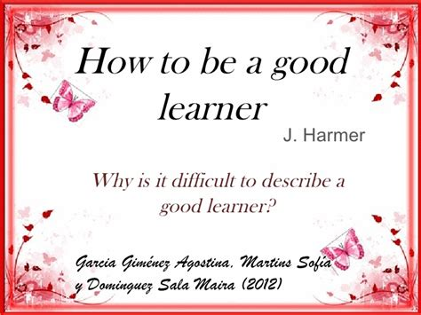 how to a to be how to be a learner