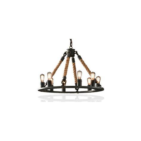 vintage industrial chandelier industrial vintage hemp rope chandelier pendant l by
