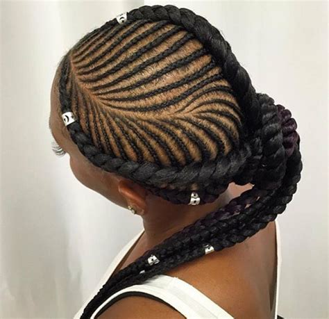 ghana updo ponytail braids ghana braids styled in to ponytail braided updo with