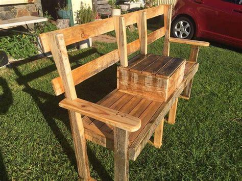 outdoor bench with cooler diy pallet garden bench with cooler 101 pallets