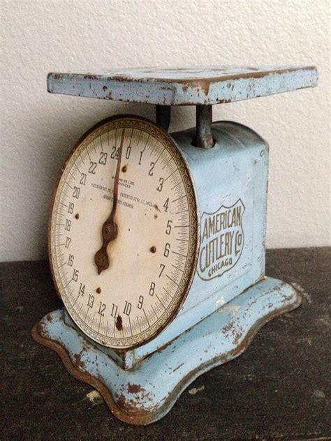antique vintage blue metal kitchen scale patented oct 29