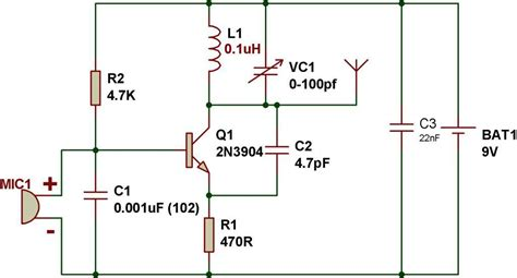 single transistor fm transmitter circuit diagram circuit zone electronic projects electronic schematics diy electronics