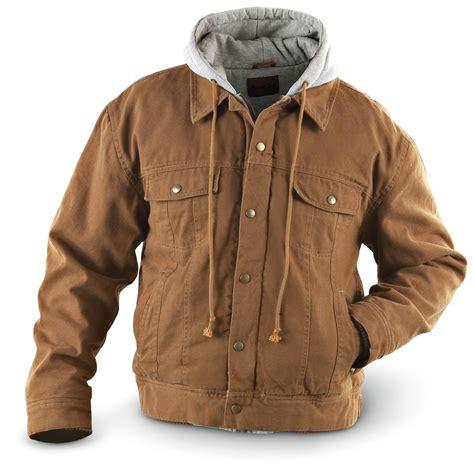 Jacket Parka Bahan Canvas marino bay 174 canvas jacket with fleece 141452 uninsulated jackets coats at sportsman s