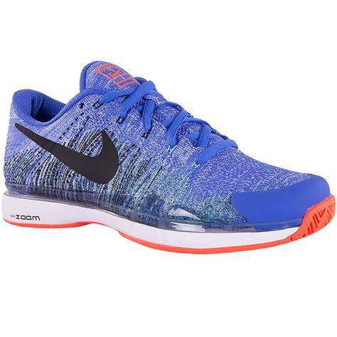 nike mens tennis shoes nike zoom vapor flyknit s tennis shoe blue