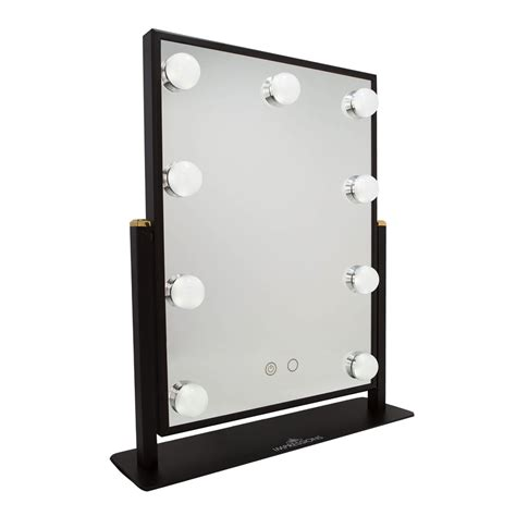 black lighted makeup mirror impressions vanity co hollywood touch duotone led