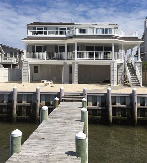 the boat house lbi bayfront duplex on lbi with 50 dock and boat slip