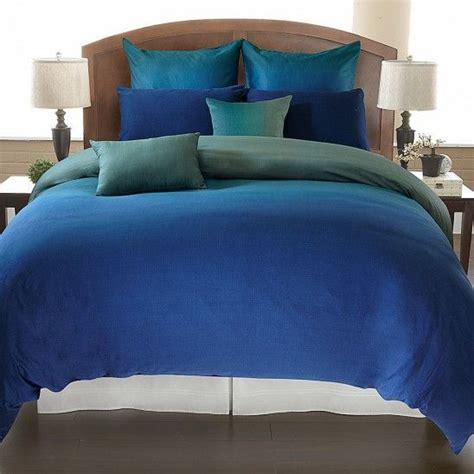 jennifer lopez peacock bedding degrade blue duvet cover set beautiful bedding