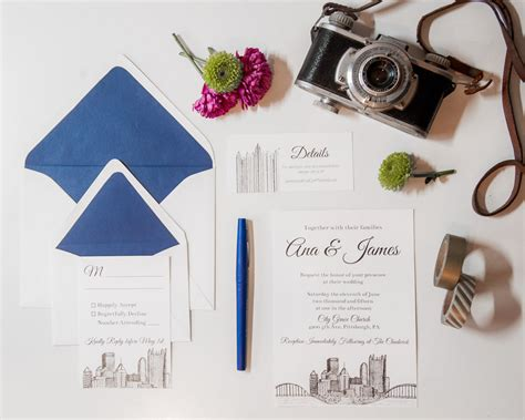 Wedding Invitations Pittsburgh by Pittsburgh Skyline Wedding Invitations Wedding Invitation