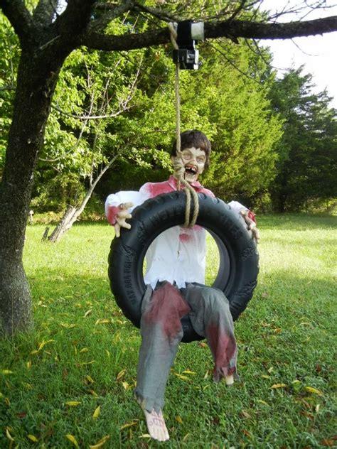 tire swing tab lifesize animated zombie kid on tire swing halloween