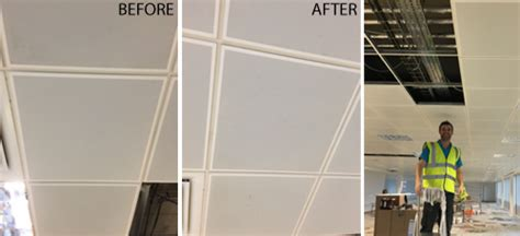 Suspended Ceiling Cleaning by Damage Restoration Servicemaster Clean Swansea