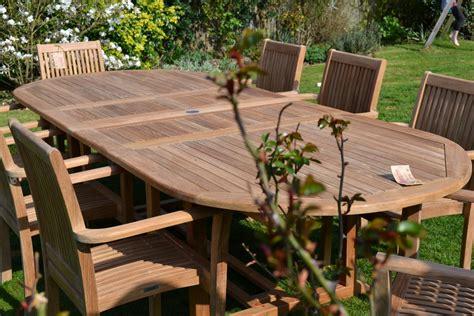 Teak Garden Furniture 8 Seater 8 10 Seater Oval Teak Garden Set The Antigua