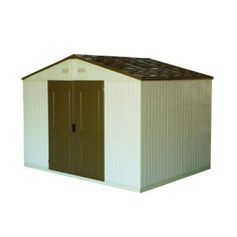 Vinyl Sheds Home Depot by Duramax Building Products Westchester 10 Ft X 8 Ft