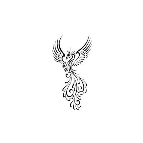 phoenix tattoo little small phoenix tattoos liked on polyvore featuring