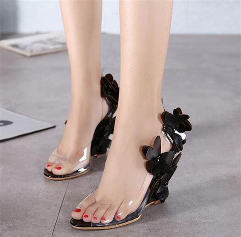 Wedges Fashion Korea 19 6 free shipping korean new vogue open toe summer heels sandals fashion flower