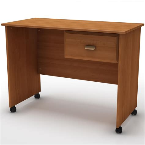 Bedroom Small Wooden Computer Desk With Hanging Drawer On