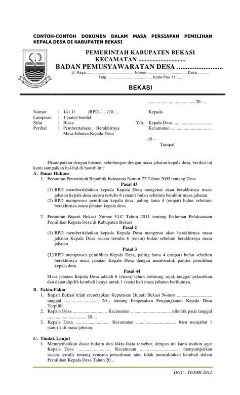 Contoh Notulen Rapat Kantor Pemerintah by Contoh Dokumen Pilkades