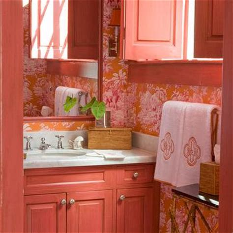 pink and orange bathroom sets pink washstand eclectic bathroom mmr interiors