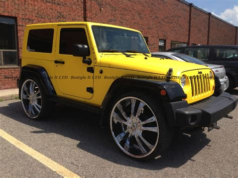 yellow jeep matte yellow jeep wrangler vehicle customization shop
