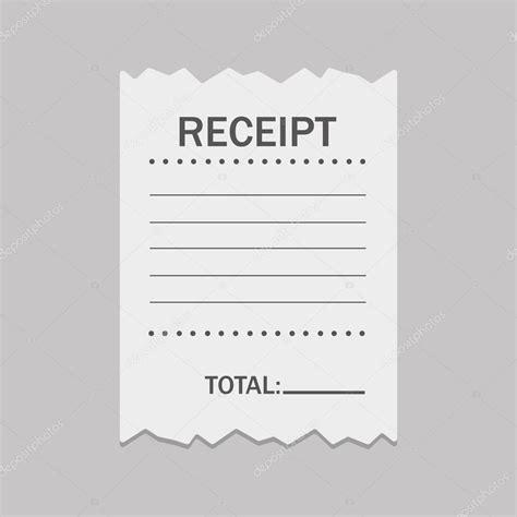 receipt template vector white blank receipt stock vector 169 4zeva 104815098