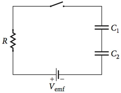 resistor is connected in series with a capacitor two parallel plate capacitors c1 and c2 are conn chegg