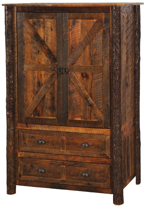 Armoire With Drawers And Hanging Value Barnwood 2 Drawer Wardrobe With Hanging Rod
