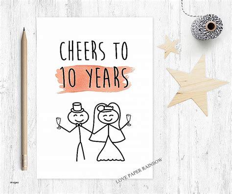 printable 10th wedding anniversary cards anniversary cards happy 10th anniversary cards unique