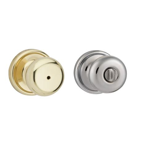 chrome bathroom door knobs kwikset hancock polished brass polished chrome privacy bed