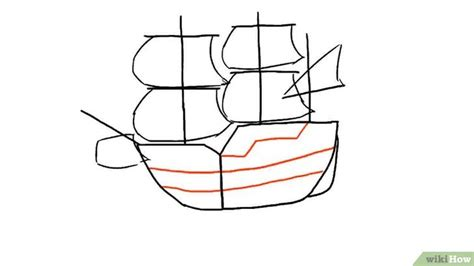 how to draw a navy boat een schip tekenen wikihow