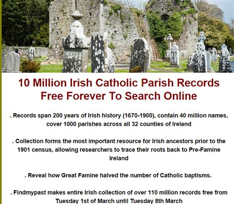 Marriage Records Ireland Free Search 10 Million Catholic Parish Records Free Forever To