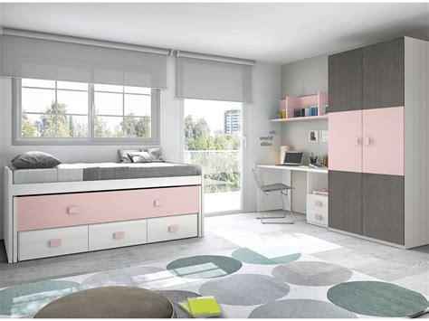 cama dormitorio juvenil dormitorio juvenil con cama compacta blanco