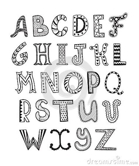 imagenes letras artisticas el garabato pone letras a la colecci 243 n ilustraci 243 n del
