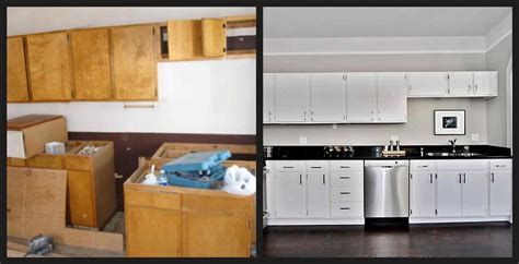painting cabinets white before and after painted kitchen cabinet ideas before and after deductour com