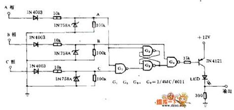 phase sequence indicator circuit diagram phase sequence detection circuit lifier circuit