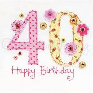 40th birthday cards 40th greeting cards fortieth birthday card