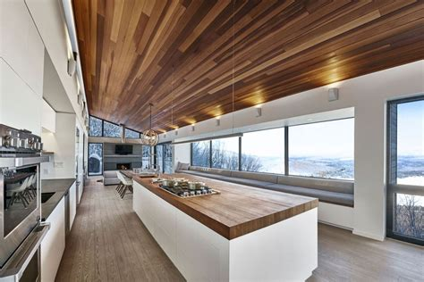 kitchen architect modern ski chalet in quebec serves as the ideal family retreat