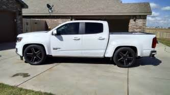 lowered 2016 ccsb belltech kit chevy colorado gmc