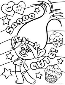 trolls movie coloring pages coloring pages kids