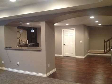 Ideas Basement Wall Colors Finished Basement Sherwin Williams Mega Griege Home Decor Ideas Paint Colors